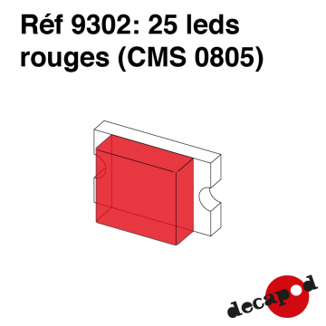 25 leds rouges (CMS 0805)