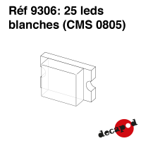 25 leds blanches (CMS 0805)