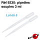 Pipettes souples 3 ml
