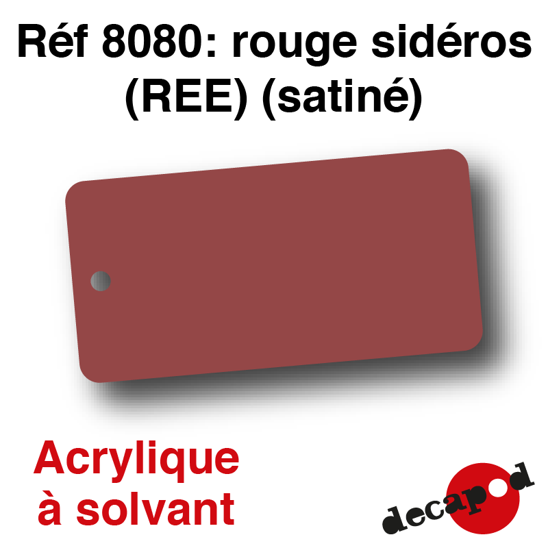 rouge sid ros ree acrylique solvant decapod. Black Bedroom Furniture Sets. Home Design Ideas