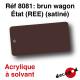 Brun wagon Etat (REE) (satiné) [acrylique à solvant]