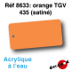 Orange TGV 435 [acrylique à l'eau]