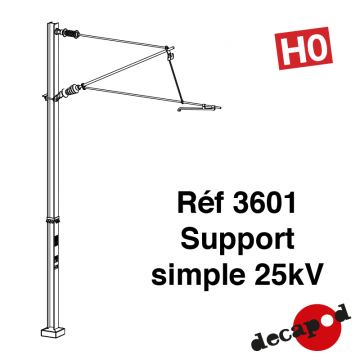 Support simple 25 kV [HO]