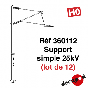 Supports simples 25kV (lot de 12) [HO]