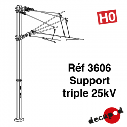 Support triple 25kV [HO]