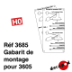 Gabarit de montage support 3605 [HO]