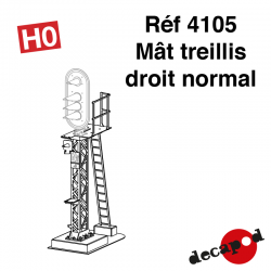 Mât treillis droit normal [HO]