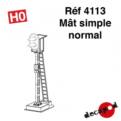 Mât simple normal [HO]
