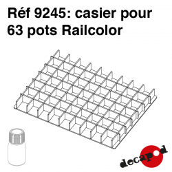 Casier pour 63 pots RailColor