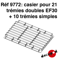 Casier pour 21 trémies doubles EF30 + 10 trémies simples