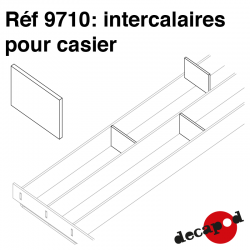 Intercalaires pour casiers standards