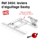 Leviers d'aiguillage Saxby [HO]