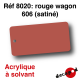 Rouge wagon 606 (satiné) [acrylique à solvant]
