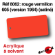 Rouge vermillon 605 (version 1964) [acrylique à solvant]