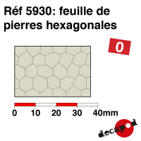 Feuille de pierres hexagonales [O]